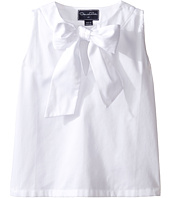 Oscar de la Renta Childrenswear - Cotton Sleeveless Bow Blouse (Toddler/Little Kids/Big Kids)