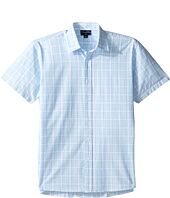 Oscar de la Renta Childrenswear - Plaid Cotton Short Sleeve Woven (Toddler/Little Kids/Big Kids)