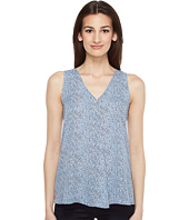 Vince Camuto - Sleeveless Delicate Pebbles Drape Front Blouse