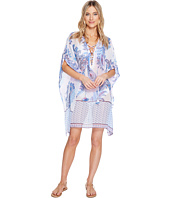 Tommy Bahama - Paisley Leaves Lace-Up Tunic Cover-Up