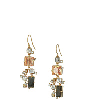 Alexis Bittar - Geometric Multi Stone Wire with Satellite Crystal Detail Earrings
