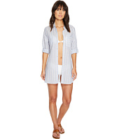 Tommy Bahama - Ticking Stripe Boyfriend Shirt Cover-Up