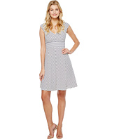 Adrianna Papell - Cap Sleeve Stripe Fit and Flare Dress
