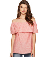 kensie - Cross Dye Linen Blend Top KS5K4323