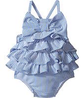 Mud Pie - Seersucker Ruffle Bow Swimsuit (Infant)