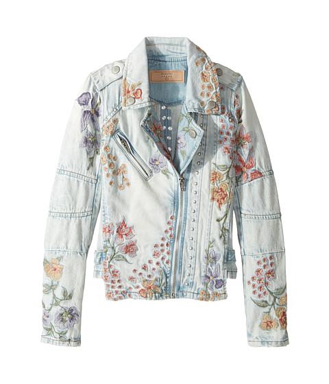 Blank NYC Kids Denim Floral Embroidered Jacket in Sitting Pretty (Big Kids)