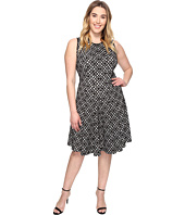 Calvin Klein Plus - Plus Size Laser Cut Flare Dress