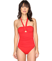 LAUREN Ralph Lauren - Solid Bandeau Cut Out Mio One-Piece