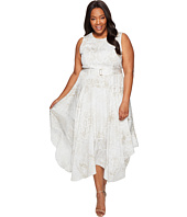 Calvin Klein Plus - Plus Size Printed Handkerchief Hem Dress