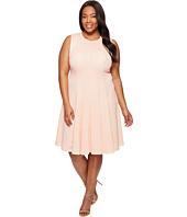Calvin Klein Plus - Plus Size Laser Cut Flare Dress