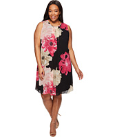Calvin Klein Plus - Plus Size Printed Inverted Pleat Dress