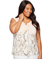 Calvin Klein Plus - Plus Size Printed Extended Shoulder with Hardware