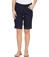 Jag Jeans Petite - Petite Ainsley Pull-On Bermuda Comfort Denim in Dark Shadow