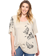 Karen Kane Plus - Plus Size Leaf Print Pick Up Top
