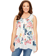 Karen Kane Plus - Plus Size Sleeveless Contrast Hem Top