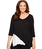 Karen Kane Plus - Plus Size Layered V-Neck Top