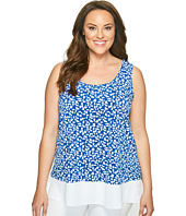 Karen Kane Plus - Plus Size Sheer Hem Tank Top