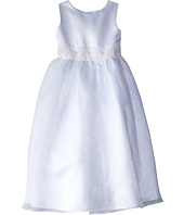 Us Angels - Satin & Organza Sleeveless Beaded Cumberband Dress (Big Kids)