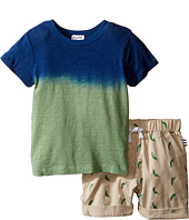 Splendid Littles - Dip-Dye Tee with Printed Chili Pepper Shorts Set (Toddler)