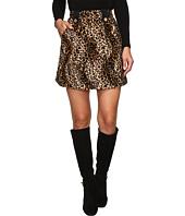 HOUSE OF HOLLAND - Velvet Leopard Mini Skirt