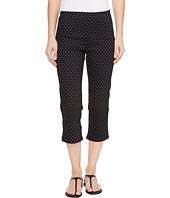 FDJ French Dressing Jeans - Dot Print Pull-On Capris in Black/White