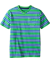 Tommy Hilfiger Kids - Bruce Stripe Crew Tee with Pocket (Big Kids)