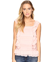 ROMEO & JULIET COUTURE - Sleeveless Lace Multi Layer Ruffle Top