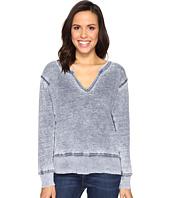 Allen Allen - Split-Neck Sweatshirt