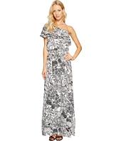 Maggy London - One-Shoulder Ruffle Maxi Dress