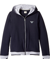 Armani Junior - Logo Zip Hoodie (Big Kids)