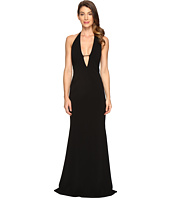 Badgley Mischka - Stretch Crepe Deep V Gown