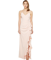 Badgley Mischka - V-Neck Ruffle Front Gown