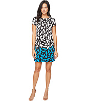 London Times - Abstract Spot Short Sleeveless Shift
