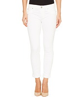 Hudson - Tally Cropped Skinny Five-Pocket Jeans in White