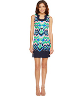 Christin Michaels - Yvonne Sleeveless Printed Dress