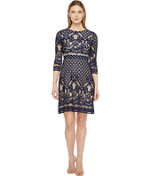 Christin Michaels - Maxine 3/4 Sleeve Lace Dress