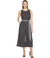 Christin Michaels - Constance Sleeveless Polka-Dot Jumpsuit