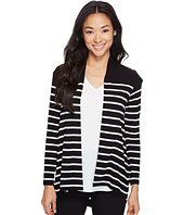 Vince Camuto Specialty Size - Petite Long Sleeve Clipper Stripe Panel Cardigan