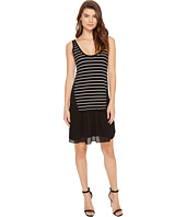 Nicole Miller - Sara Striped Combo Shift Dress