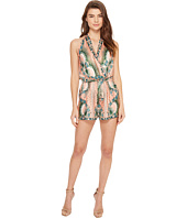 Nicole Miller - La Plage By Nicole Miller Tropical Peacock Silk Cover-Up Romper