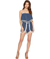 Jack by BB Dakota - Faith Poly Twill Fringe Trim Romper