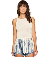 Jack by BB Dakota - Yoko Tape Yarn Long Fringed Sweater Tank Top