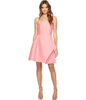 Halston Heritage - Strapless Silk Faille Dress w/ Folded Drape Skirt