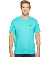 U.S. POLO ASSN. - Short Sleeve Solid V-Neck T-Shirt