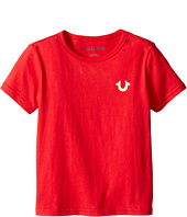 True Religion Kids - Gold Buddha Logo Tee (Toddler/Little Kids)