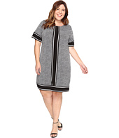 MICHAEL Michael Kors - Plus Size Short Sleeve Stingray Border Dress