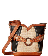 b.o.c. - Nayarit Vinyl/Straw Sweetheart Crossbody