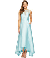 Adrianna Papell - Lace Bodice Yoke and Mikado Combo Ball Gown