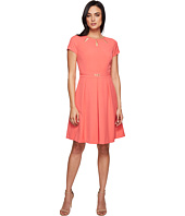 Ellen Tracy - Fit and Flare Dress with Hardware and Cut Outs