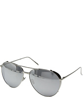 Linda Farrow Luxe - LFL425C2SUN White Gold & Platinum Aviator Sunglasses